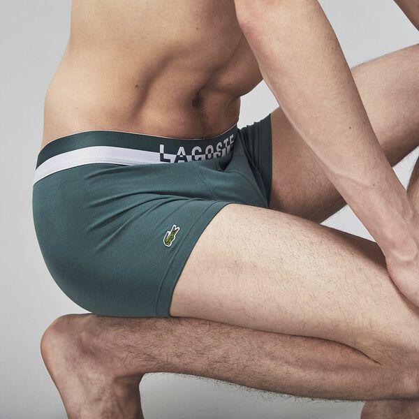 Mens Underwear  Trunk 3 Pack, IDAHO GREEN/WHITE-BLACK, hi-res