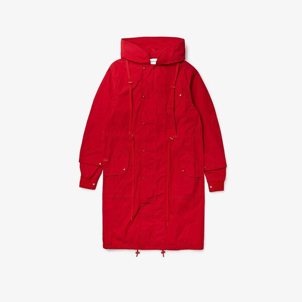 Unisex Fashion Show Iconcis Parka, RED, hi-res
