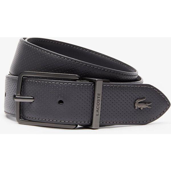 Men's Engraved Buckle Reversible Piqué Leather Belt, PAVEMENT, hi-res