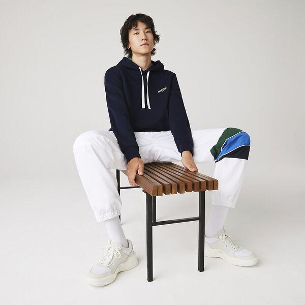 Men's Hooded Fleece Sweatshirt, NAVY, hi-res