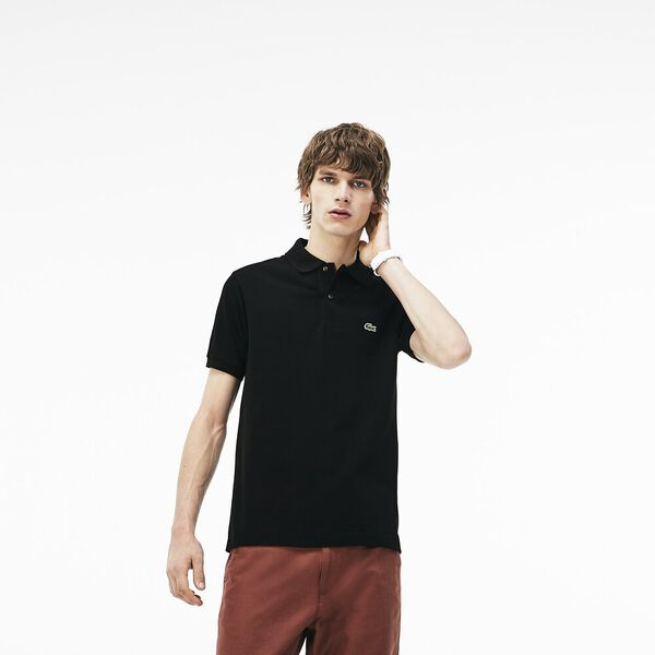 MEN'S L.12.12 CLASSIC POLO, BLACK, hi-res