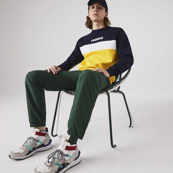 Men's Sport Crew Neck Colorblock Fleece Sweatshirt