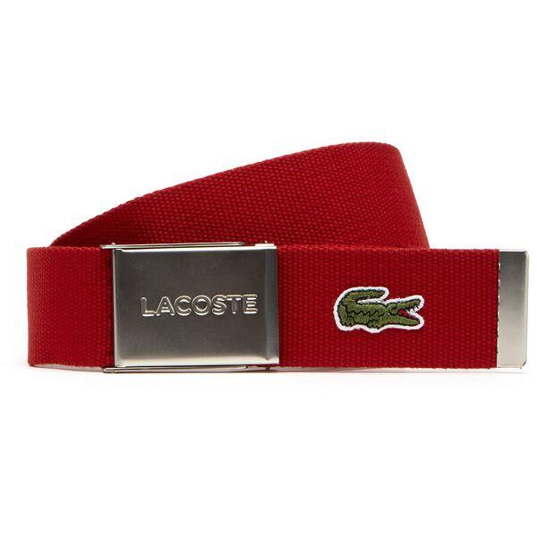 Men's L.12.12 Mens Canvas Belt, red, hi-res