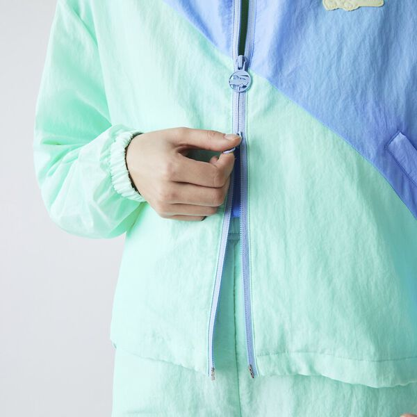 Women's LIVE Bicolor Zip Windbreaker, SYRINGA/NATTIER BLUE 07E, hi-res