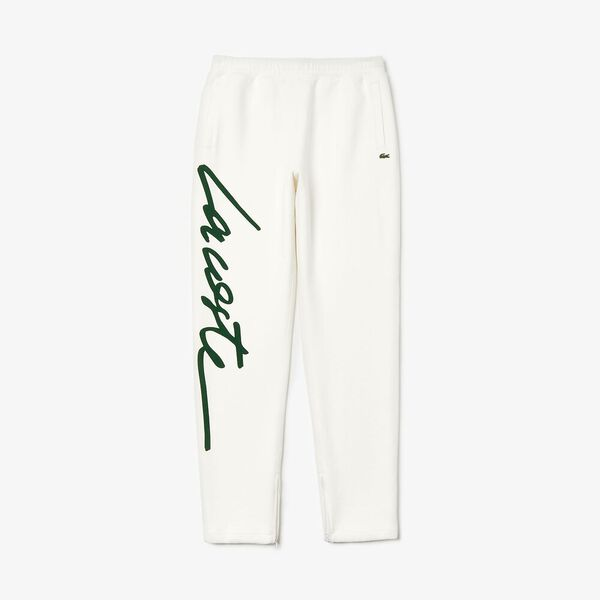 Unisex L!Ive Signature Fleece Pant, FLOUR/GREEN, hi-res