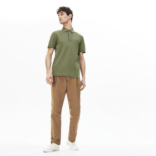 Men's Lacoste Paris Polo Shirt Regular Fit Stretch Cotton Piqué, AUCUBA, hi-res
