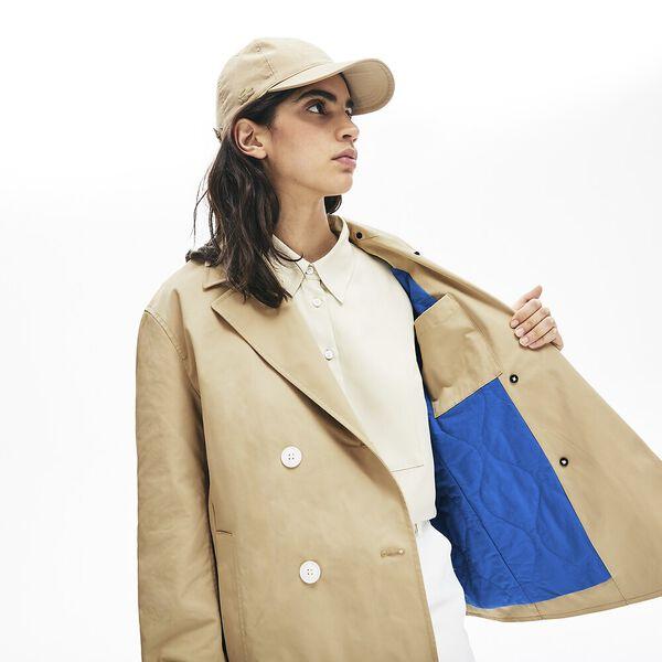 Women's Lacoste LIVE Contrast Hood 2-in-1 Trench Coat, VIENNOIS/NATTIER, hi-res