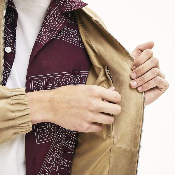 Men's Premium Suede Leather Zip Bomber, VIENNOIS, hi-res