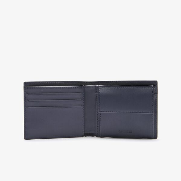 Men's Fitzgerald billfold in leather, MARINE 166, hi-res