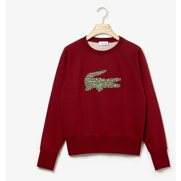 WOMEN'S CREW NECK MULTI CROC BADGE FLEECE SWEATSHIRT