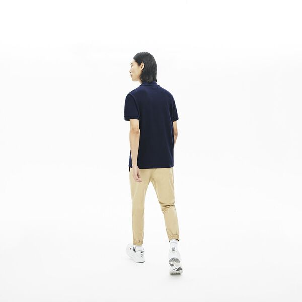 Men's Striped Pane Polo Shirt, MARINE/BLANC-NIAGARA, hi-res