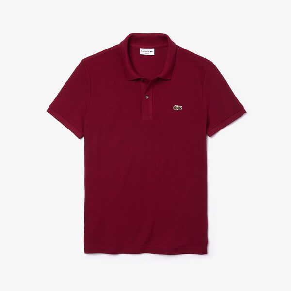 Men's Slim Fit Polo, BORDEAUX, hi-res
