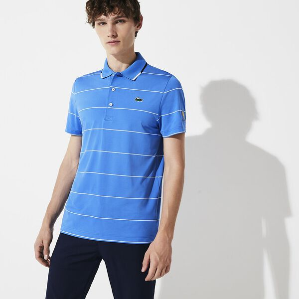MEN'S PRESIDENTS CUP STRIPED JERSEY POLO, GIPSY BLUE 90E/WHITE-NAVY, hi-res
