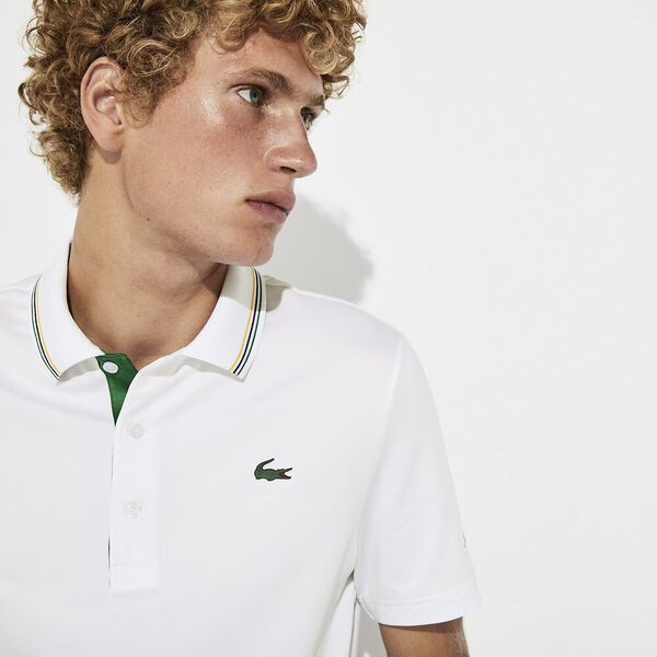 MEN'S PRESIDENTS CUP JERSEY POLO, WHITE/ROCKET-SOLSTICE YEL, hi-res