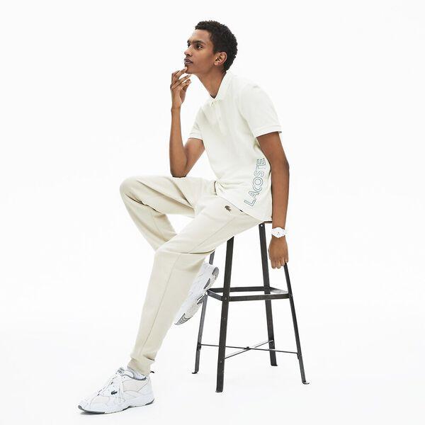 Men's Branded Cotton Polo Shirt, FARINE, hi-res