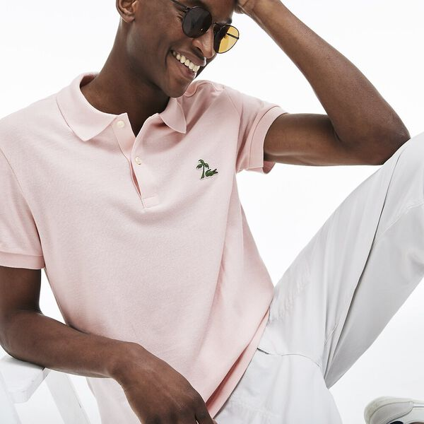 MEN'S PALM CROC LOGO POLO
