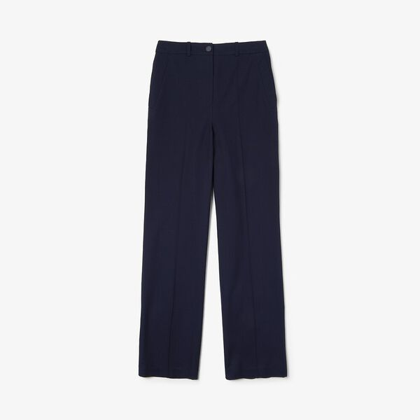 Women's Casual Elegance Cotton Pant, NAVY BLUE, hi-res