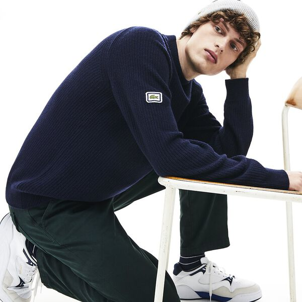 Men's 90S Sportswear Crew Neck Knit, NAVY BLUE, hi-res