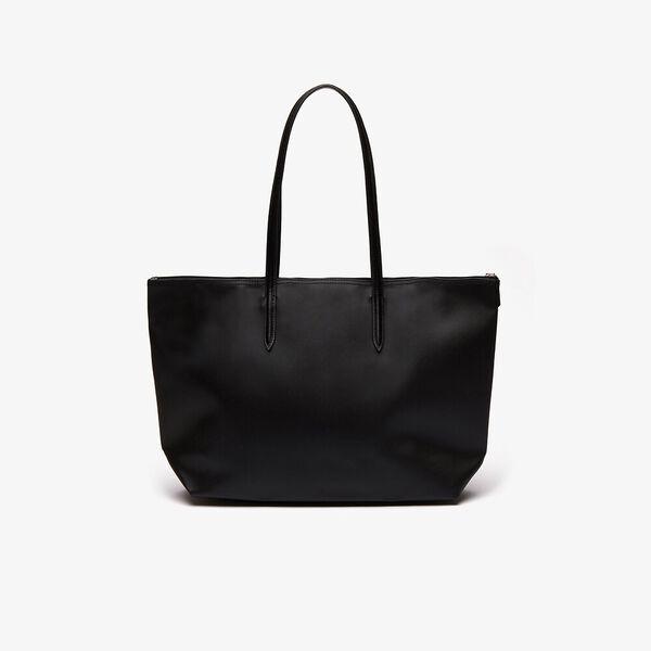 Women's L.12.12 Large Shopping Bag, BLACK, hi-res