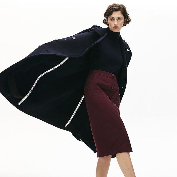 Unisex Lacoste X Gloverall Wool Coat, DARK NAVY BLUE, hi-res