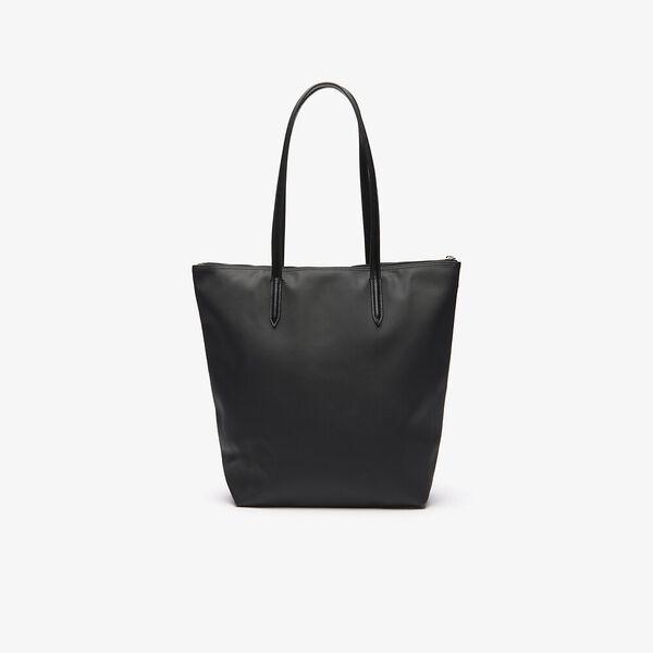 Women's L.12.12 Vertical Shopping Bag, BLACK, hi-res