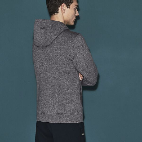 MEN'S BASIC SPORT HOODIE, PITCH/NAVY BLUE, hi-res