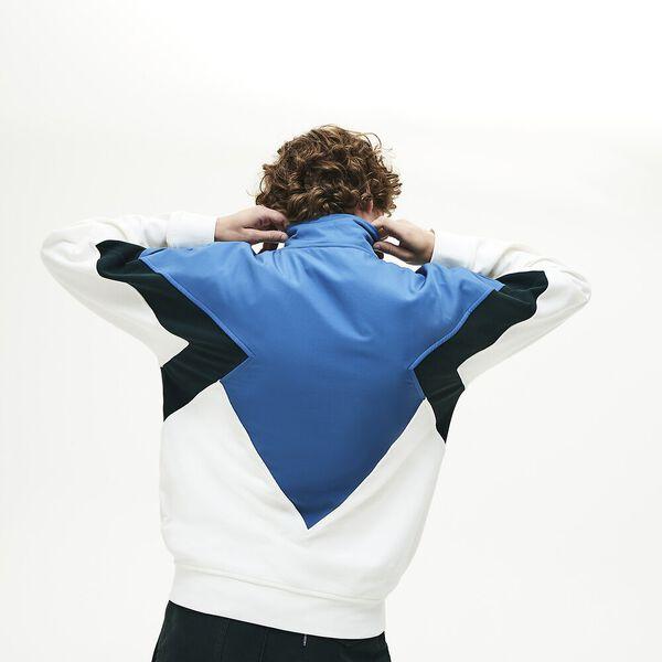 Men's Heritage Zip Front Sweatshirt, MASCARPONE/SINOPLE-KING, hi-res