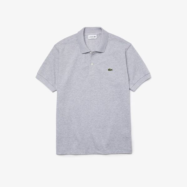 MEN'S CLASSIC FIT MARLE POLO, SILVER CHINE, hi-res