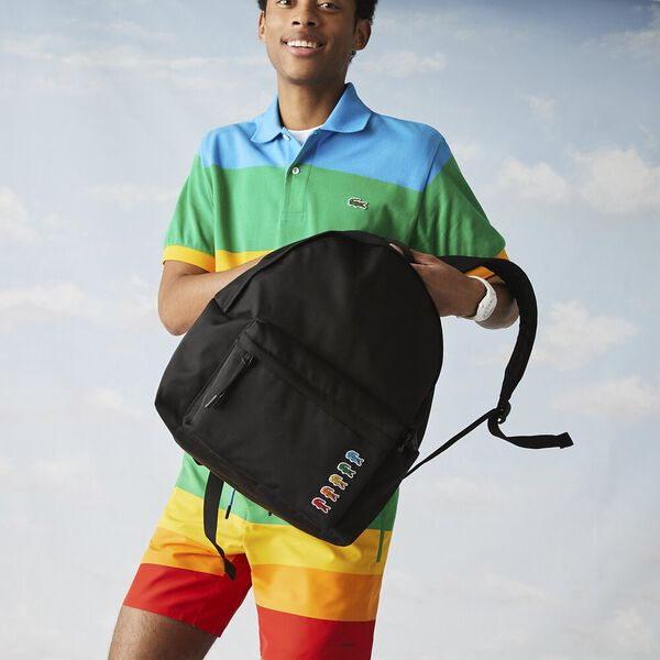 Men's Lacoste x Polaroid Multicolor Crocodiles Backpack