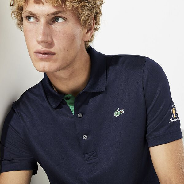 MEN'S PRESIDENTS CUP STRIPED JERSEY POLO, NAVY BLUE/ROCKET, hi-res
