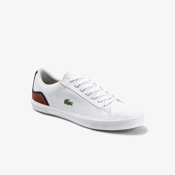 Men's Lerond 120 7 Sneaker, WHITE/ORANGE, hi-res