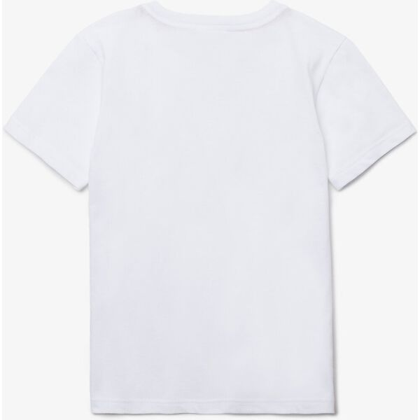 UNISEX KIDS BASIC CREW NECK TEE, WHITE, hi-res