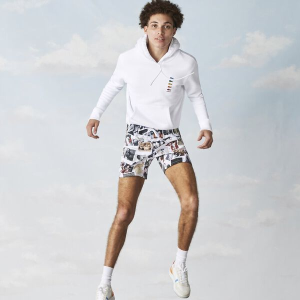 Unisex Lacoste x Polaroid Cotton Fleece Sweatshirt, WHITE, hi-res