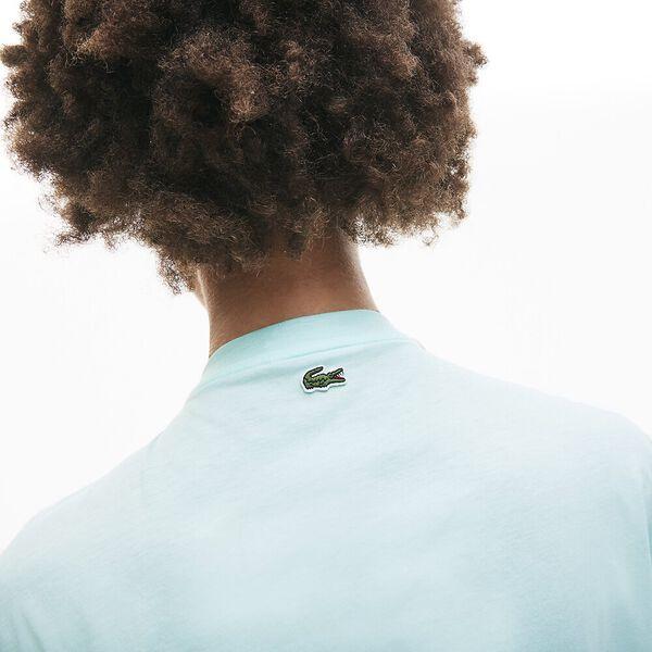 Women's Signature Printed Crew Neck Cotton T-shirt, IGLOO/BLANC, hi-res