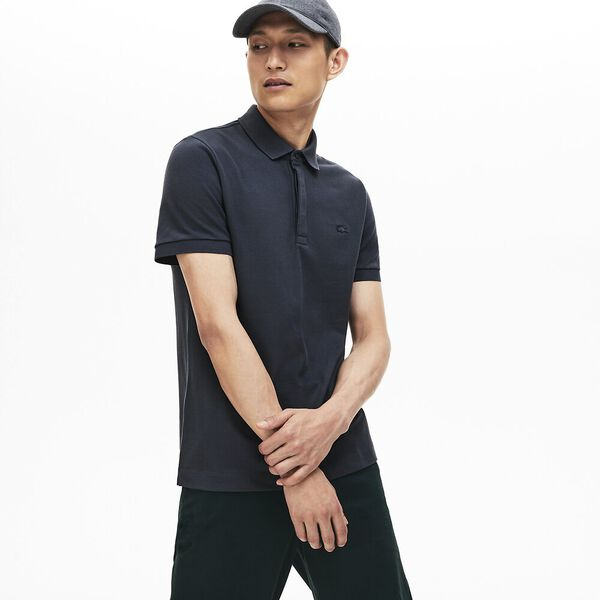 Men's Paris Stretch Polo, GRAPHITE, hi-res