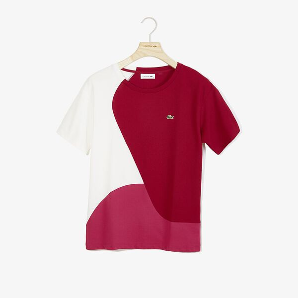 Women's Innovation Technical Pique Tee, FAIRGROUND PINK/BORDEAUX, hi-res