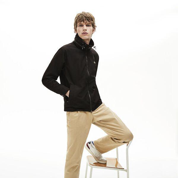 Men's Classic Windbreaker Jacket, BLACK/BLACK, hi-res