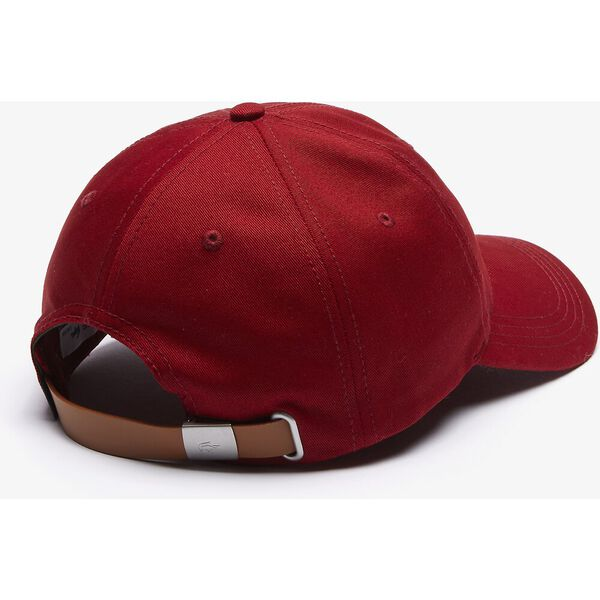 Men's Contrast Strap And Oversized Crocodile Cotton Cap, ROUGE, hi-res