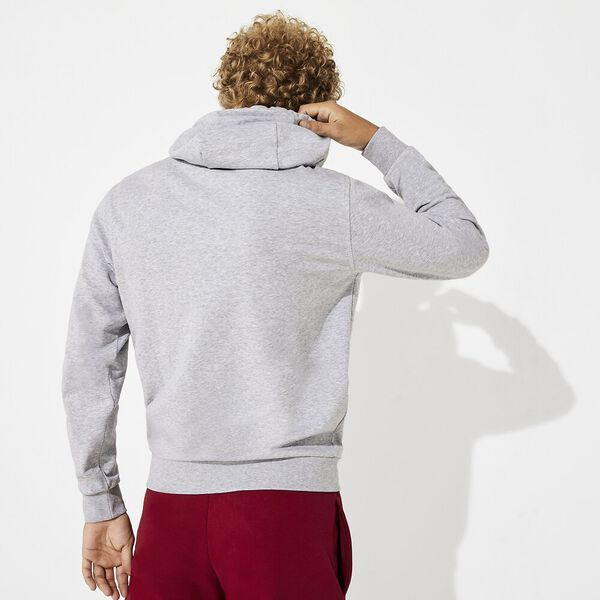 Men's Tennis Training Non Brushed Hoodie, SILVER CHINE/NAVY BLUE, hi-res