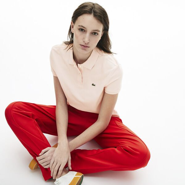 Women's Classic Fit Soft Cotton Petit Piqué Polo Shirt, NIDUS, hi-res