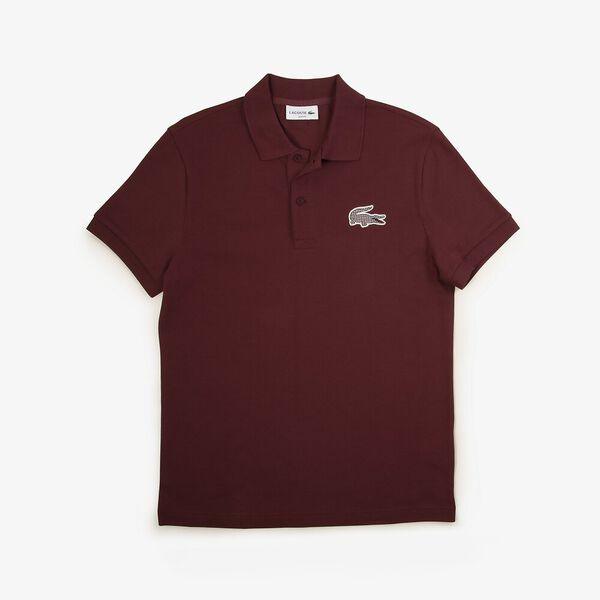 Men's Fall Countryside Slim Fit Polo, WINE 0, hi-res