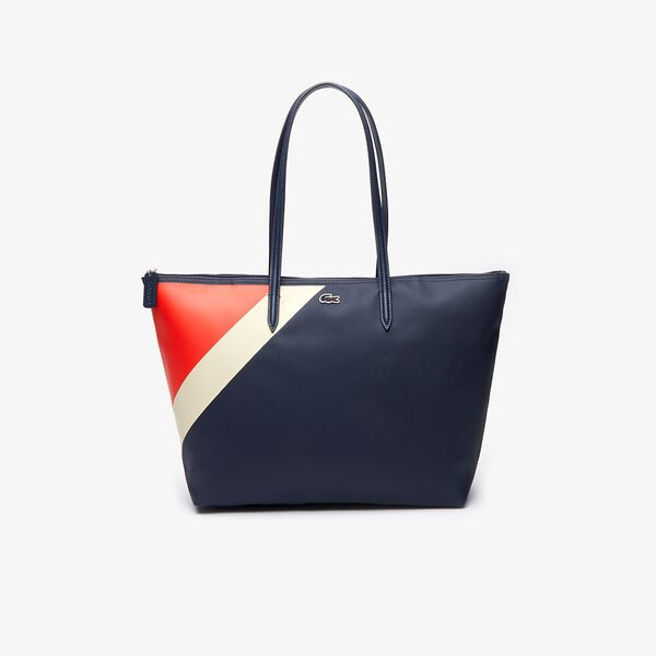 Women's L.12.12 Tricolour Large Zippered Tote