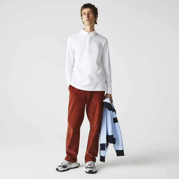 Men's Long-sleeve Paris Shirt, WHITE, hi-res