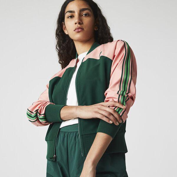 Women's SPORT Loose Fit Colorblock Zip Teddy Jacket