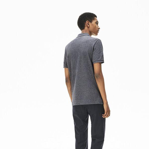 Men's Slim fit Lacoste Polo Shirt in petit piqué, ECLIPSE JASPE, hi-res
