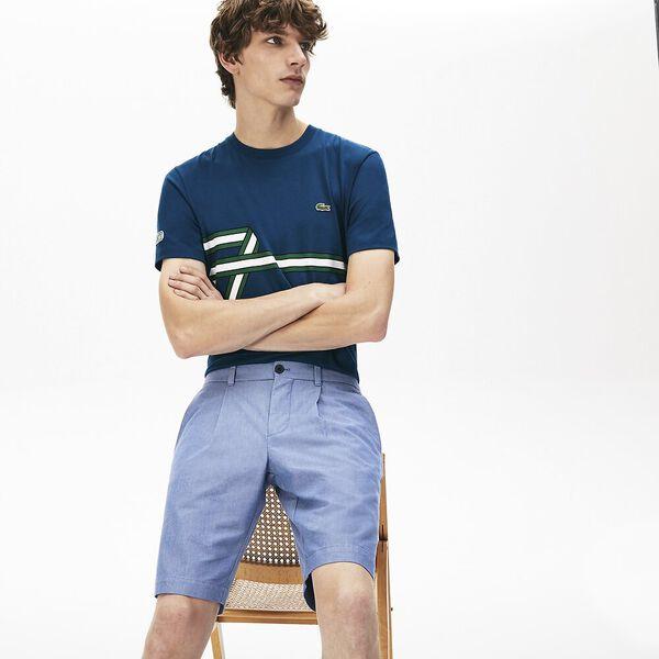 Men's Chambray Cotton Slim Fit Bermudas