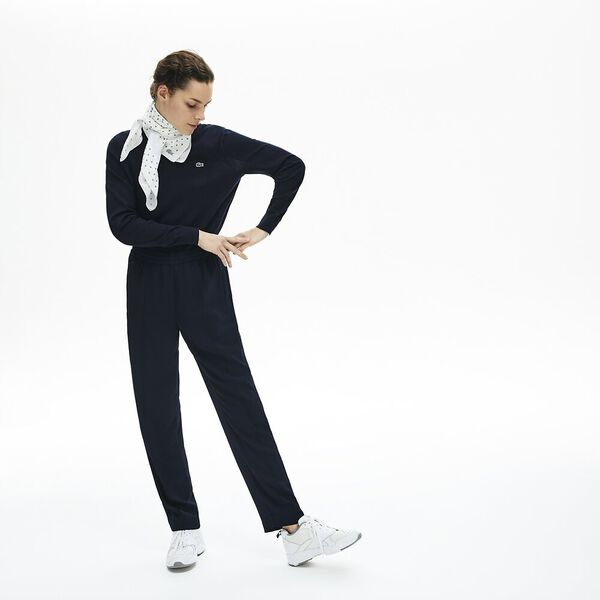 Women's Contrast band Trackpants, MARINE/MARINE, hi-res