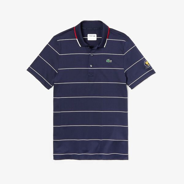 MEN'S PRESIDENTS CUP STRIPED JERSEY POLO, NAVY BLUE/WHITE-RED-WHITE, hi-res