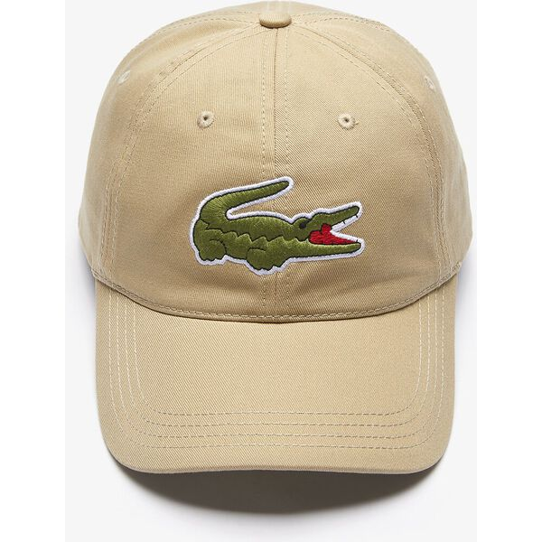 Men's Contrast Strap And Oversized Crocodile Cotton Cap, VERT, hi-res