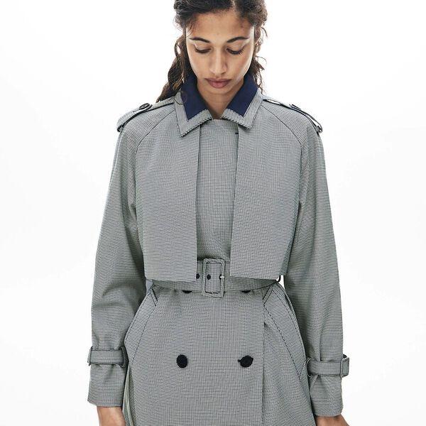 Women's Tattersalls Checked Weave Coat
